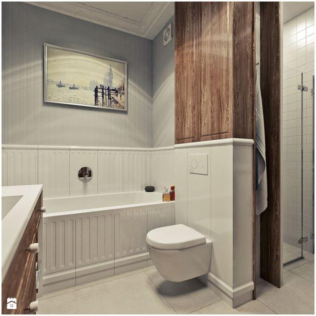 Łazienka urządzona w stylu vintage