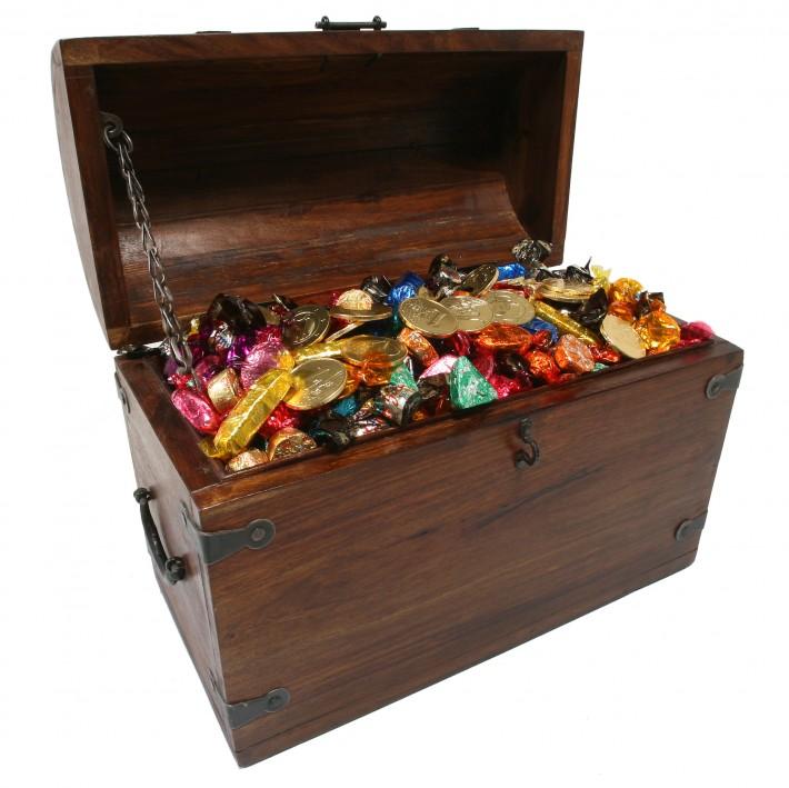 Kosz ze słodkościami na prezent