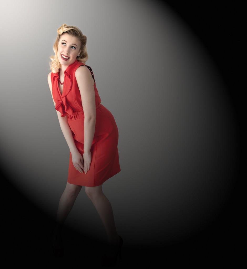 Czerwona sukienka w stylu retro