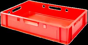 skrzynka transportowa w kolorze czerwonym