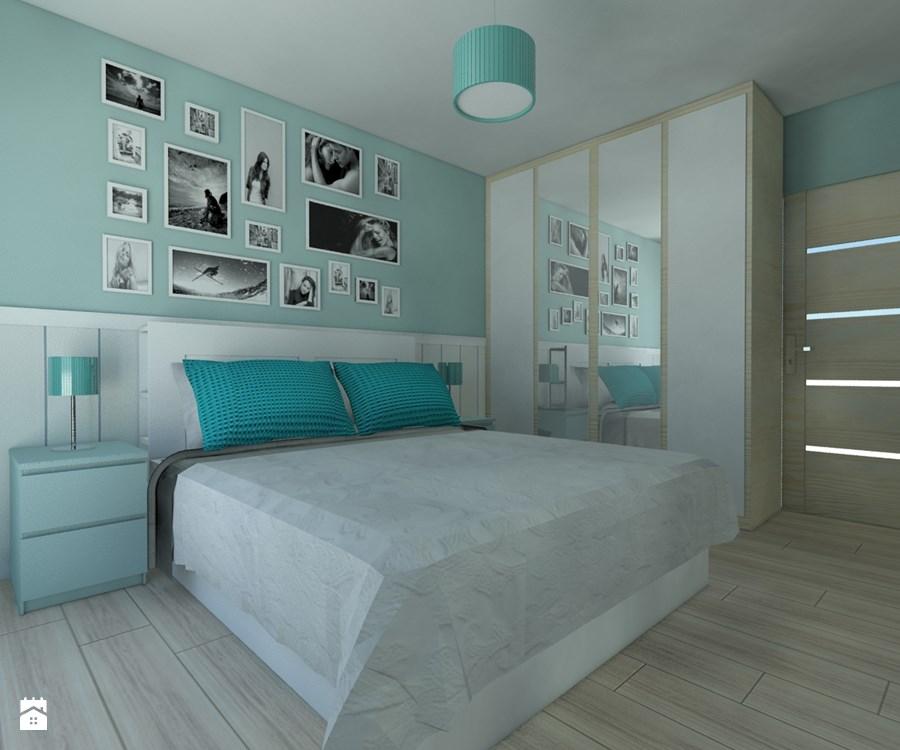 sypialnia zielony ściany