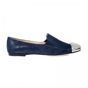 Granatowe loafery