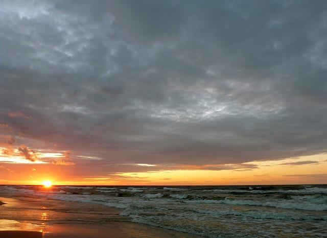 Krynica Morska - zachód słońca
