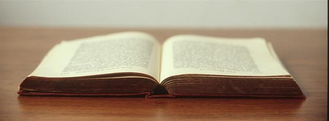 duża otwarta książka