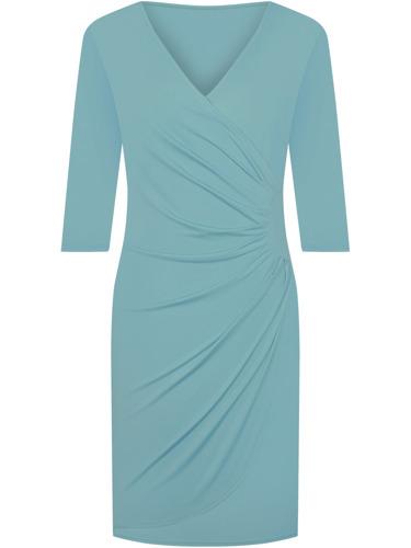 Wyszczuplająca turkusowa sukienka