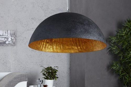 Lampa industrialna ze złotym wnętrzem