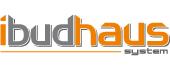 Logo firmy produkującej domy z drewna Ibudhaus