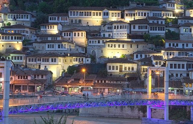 Miasto Berat w Albanii