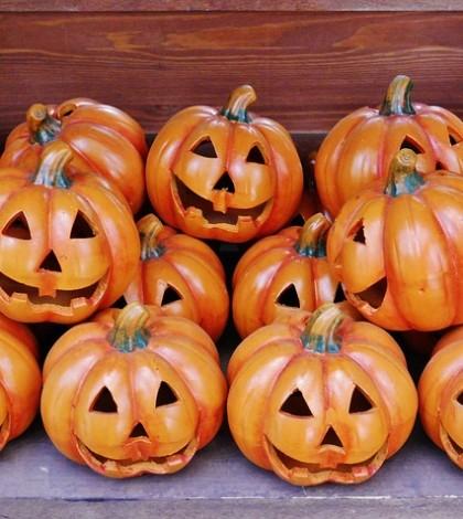 wydrążone dynie na halloween