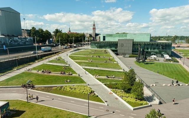 Finlandia - park w Helsinkach