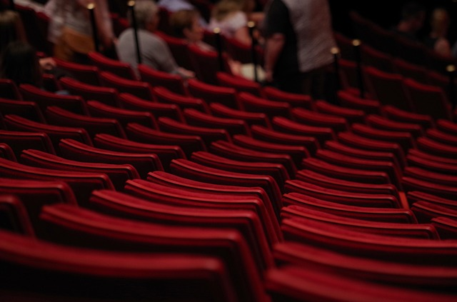fotele w kinie lub teatrze