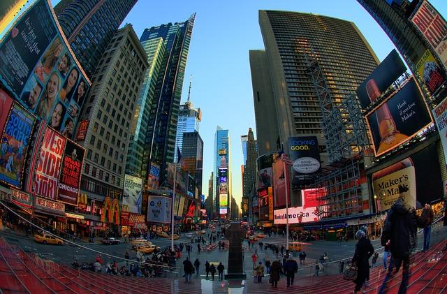 Widok na Times Square