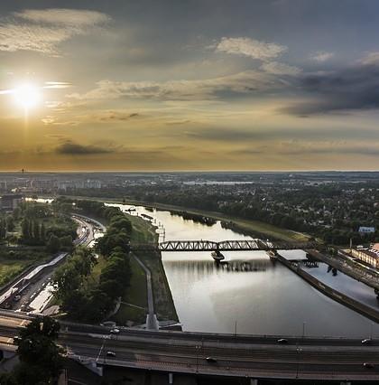 wrocławskie mosty na Odrze