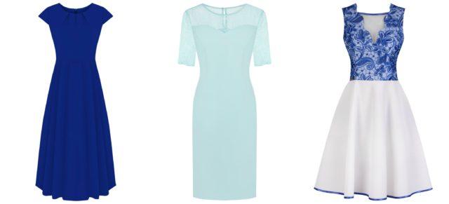 Sukienki wyjściowe w tonacji niebieskiej