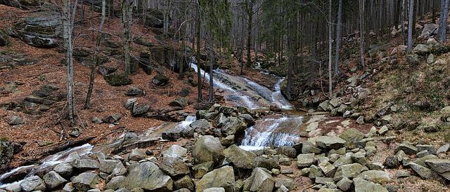 Górski potok w Górach Izerskich