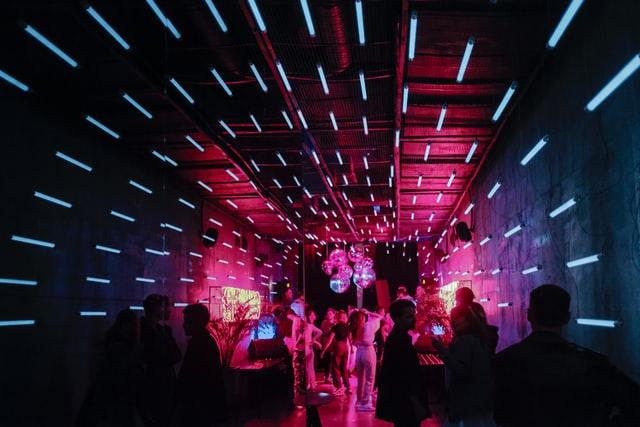 Klub taneczny ze światłami